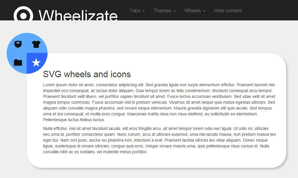 Wheelizate Tabs - Responsive tab jquery components based on Bootstrap