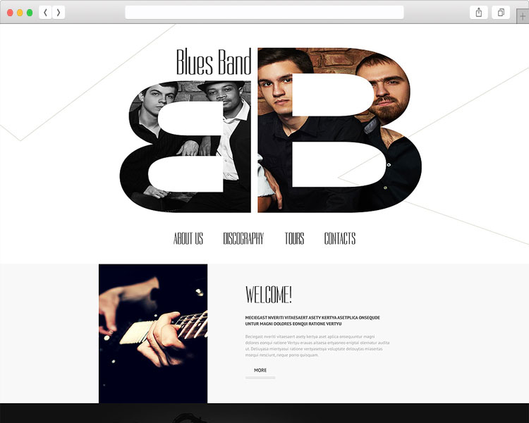 Blues Band - Personal Music Website Template