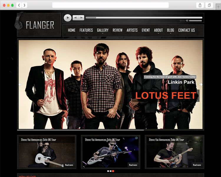 FLANGER - Music Band Responsive HTML5 Template