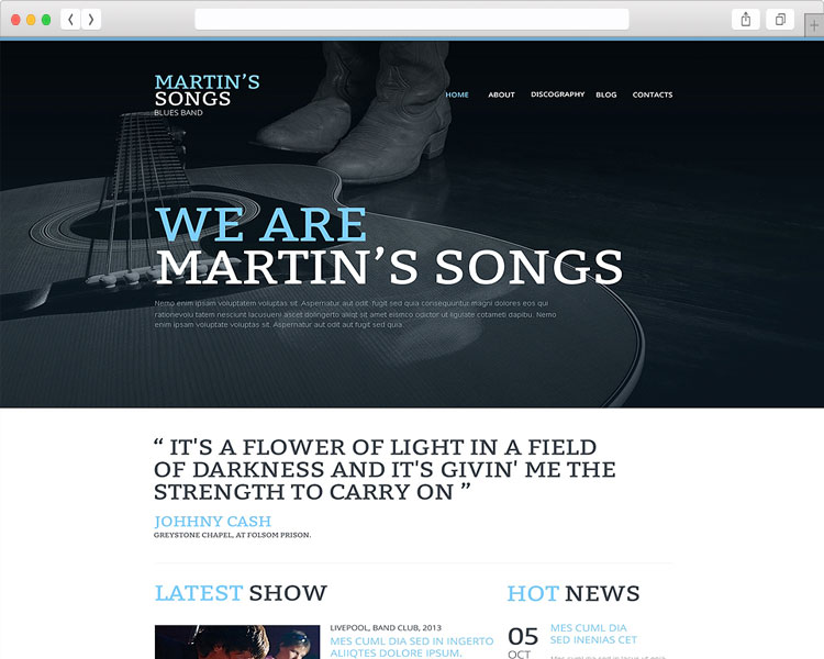 Martin's Songs –Musicians Site Template