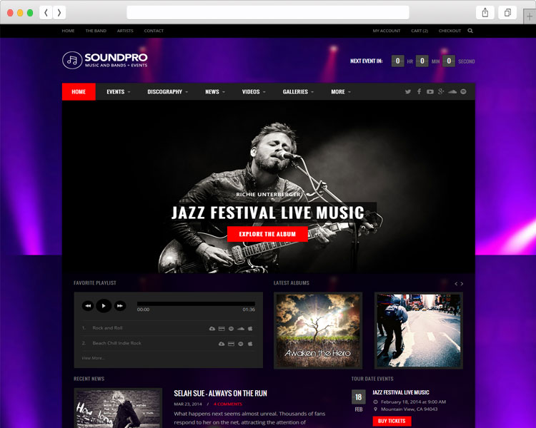SoundPro - Band & Musical Event Website Template