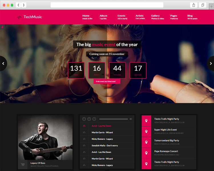 VibeMusic - Musicians Band and Multipurpose HTML template