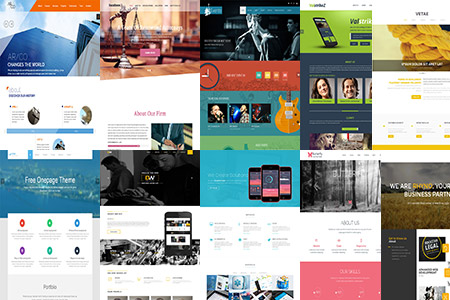 55 Incredible Parallax Single Page Website Templates