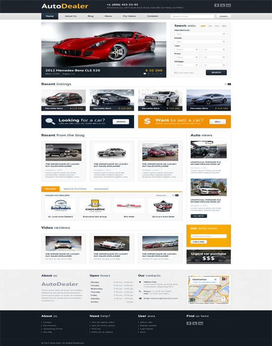 Auto Dealer - Car Dealer Website Template