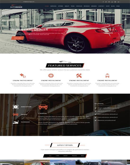 Auto Image - HTML for Car Dealer Website Template