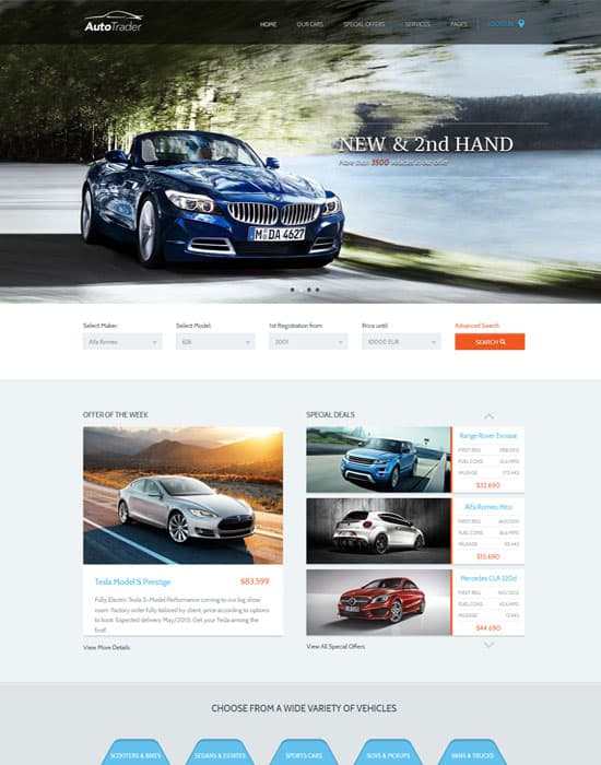 AutoTrader - Car Marketplace HTML Website Template