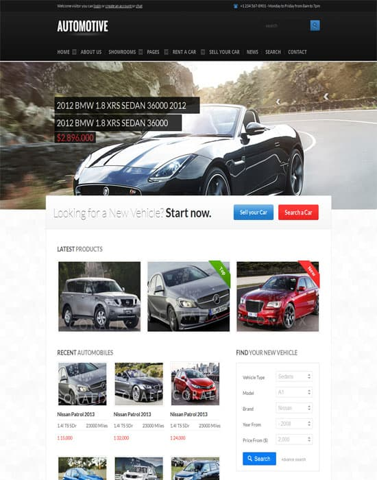 Automotive Cars Dealer Responsive HTML5-CSS3 website Template