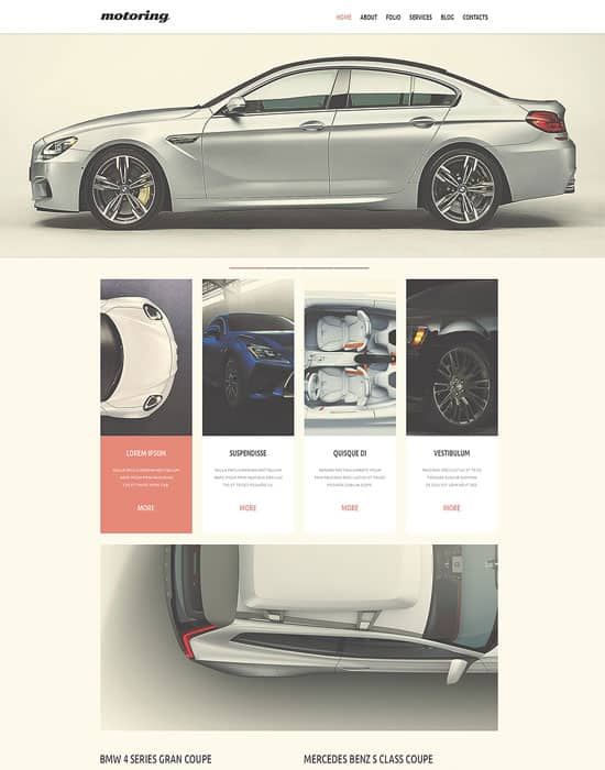 motoring Car Club Responsive Website Template
