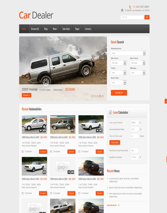 Car Dealer Responsive HTML5-CSS3 Website Template