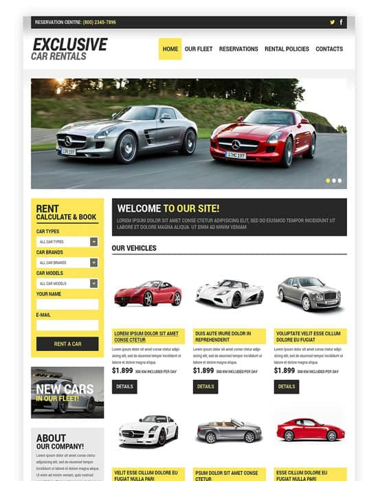 Car Rental Responsive HTML Website Template