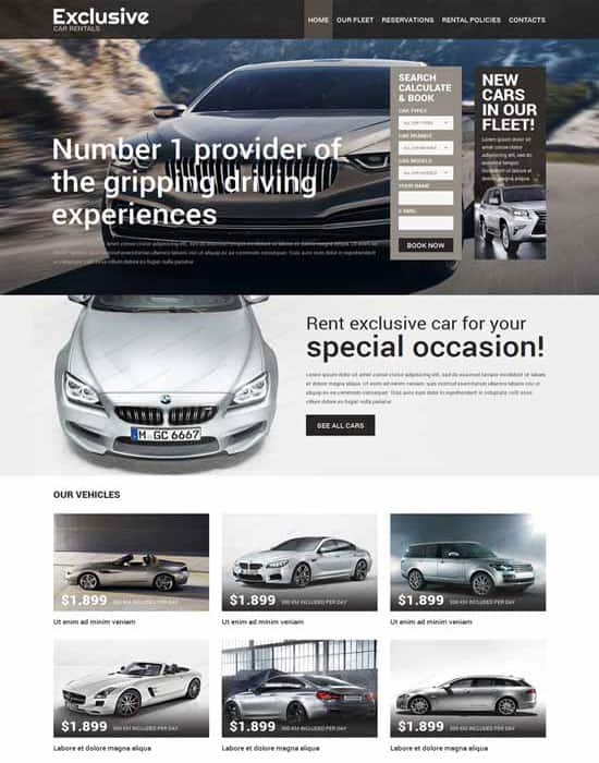 Car Rental Responsive Website Template