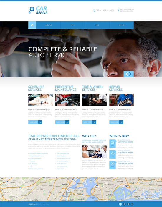 Car Repair Responsive HTMl5 Website Template