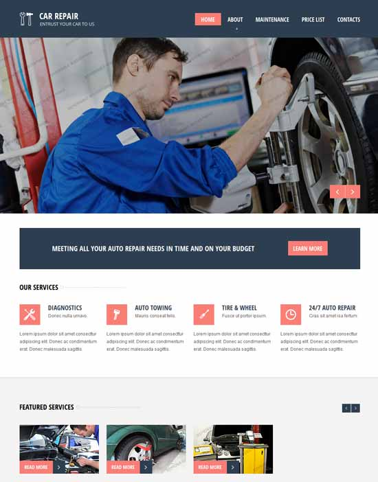 Car Repair Responsive HTML Website Template