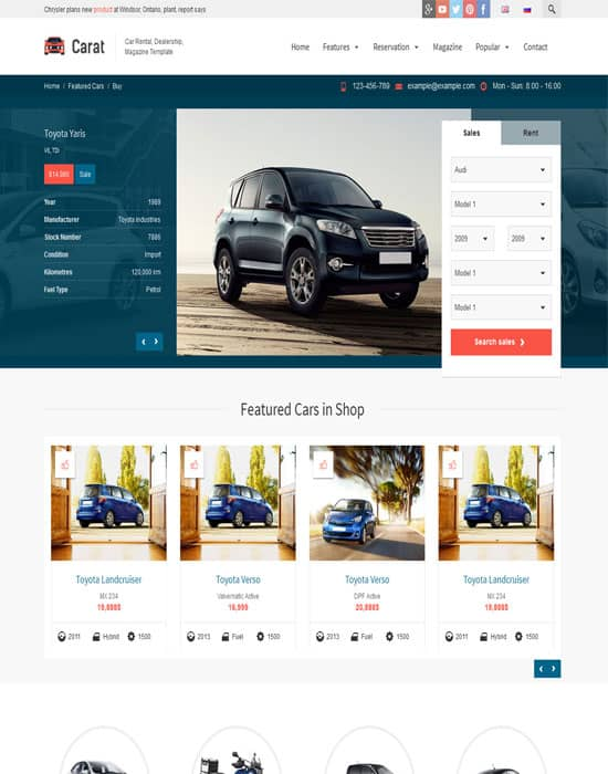 Carat - Responsive Automotive Website Template