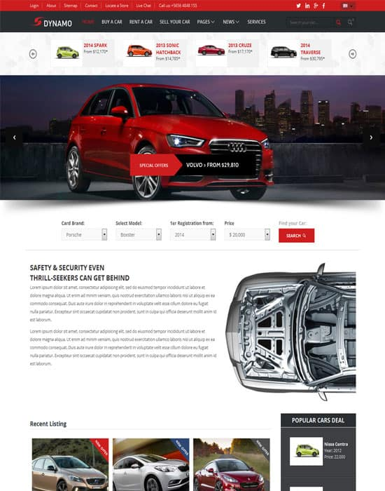 Dynamo - Rent-Sell-Buy Car Dealer HTML Responsive Template