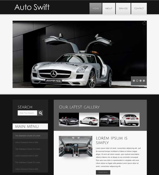Free Auto Swift automobile responsive Website Template