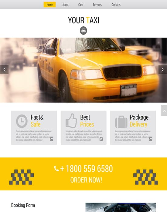 Free HTML5 Template for Taxi Company