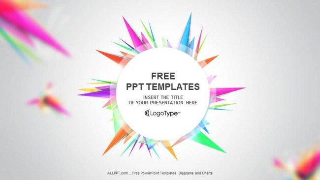 Abstact - Free Triangle-PPT Show Powerpoint Template