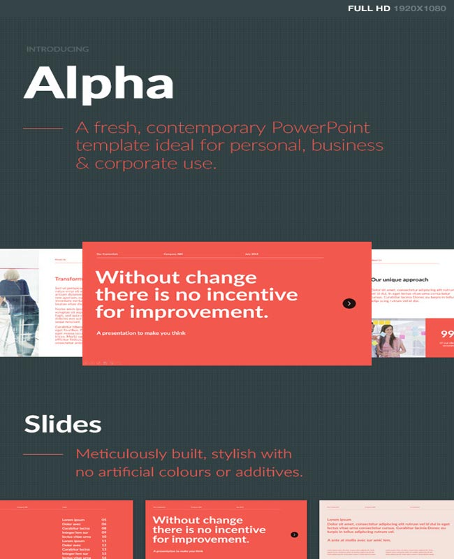 Alpha - Fresh and Modern PowerPoint Template