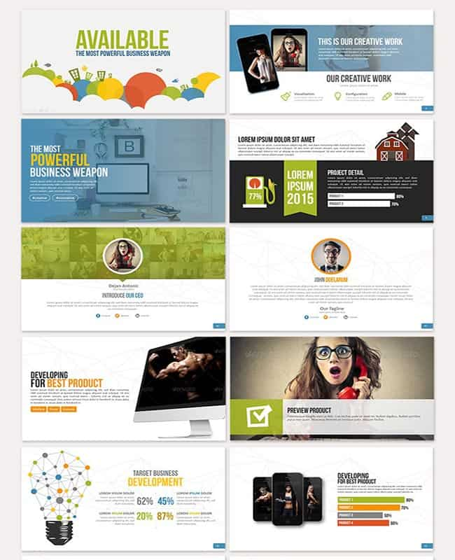Available – Powerful Animated PowerPoint Template