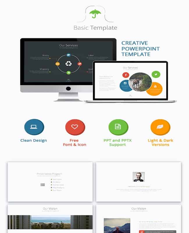 Basic - Powerpoint Creative and Colorful Presentation Template