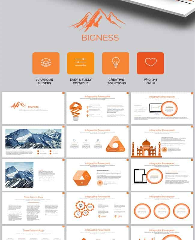 Bigness Presentation - Powerpoint Custom Animation Template