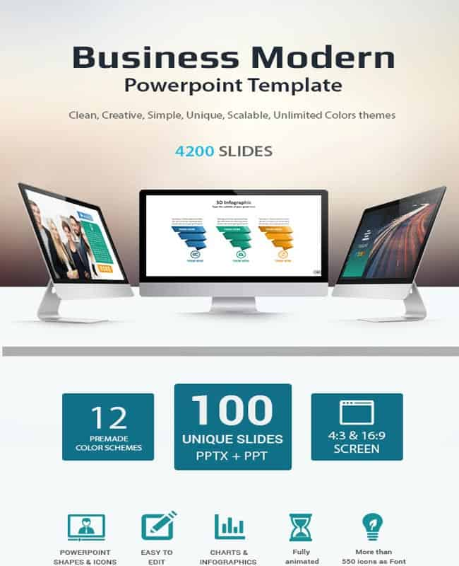 Business - Modern Presentation Powerpoint Template