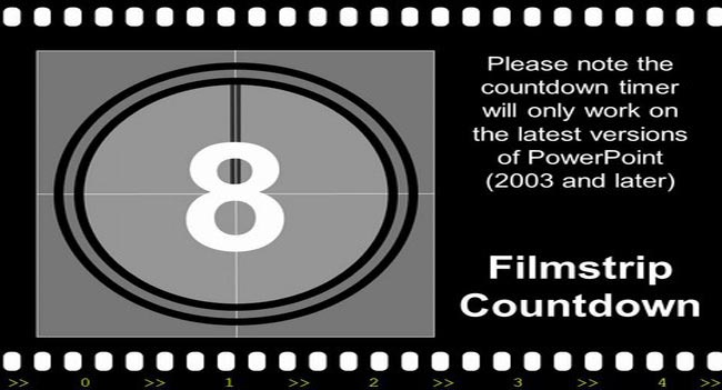 Filmstrip - Free PowerPoint countdown Presentation Template