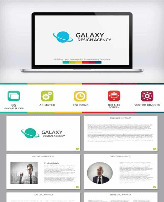 Galaxy - PowerPoint Template For Creative Business
