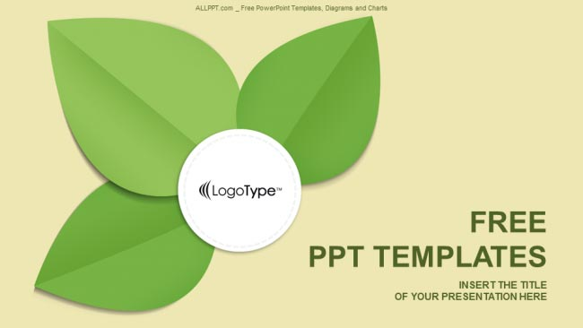 Green leaf - Free Abastract Show Powerpoint Template