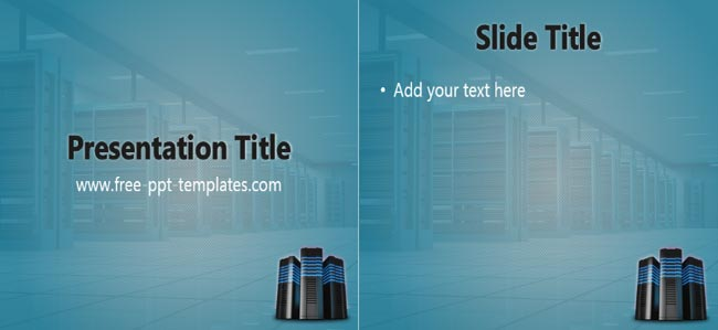 Hosting - Powerpoint Free Web Hosting Company Presentation Template