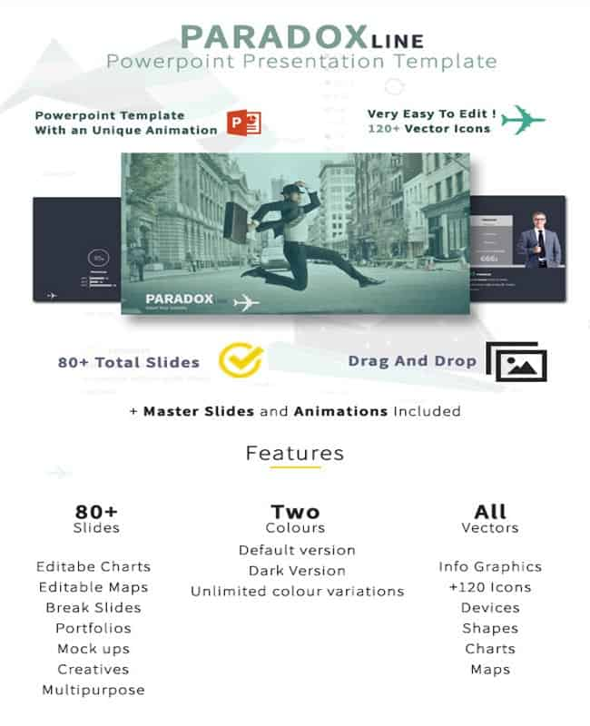 Paradox Line - Powerpoint Business Presentation Template