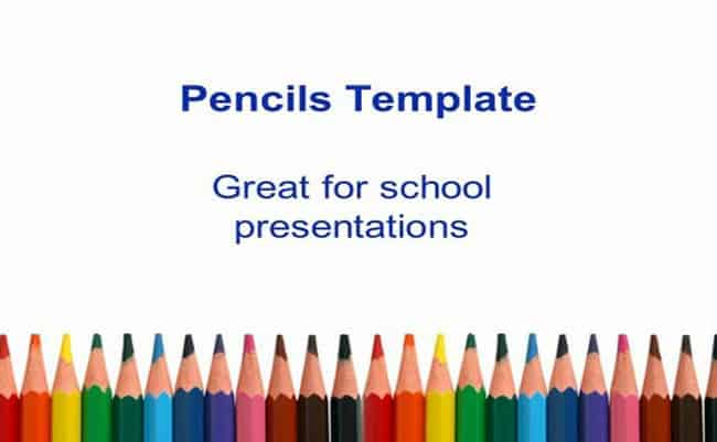 Pencil - PowerPoint Presentation Free Template