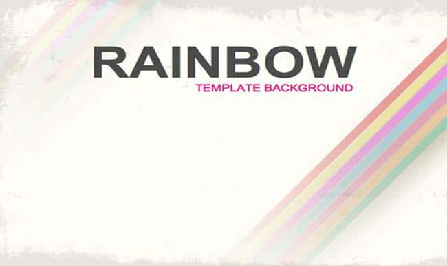 Rainbow - Free Background Image Presentation Template