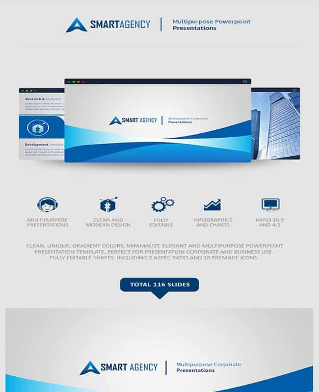 Smart Agency - Elegant and Multipurpose PowerPoint Presentation Template