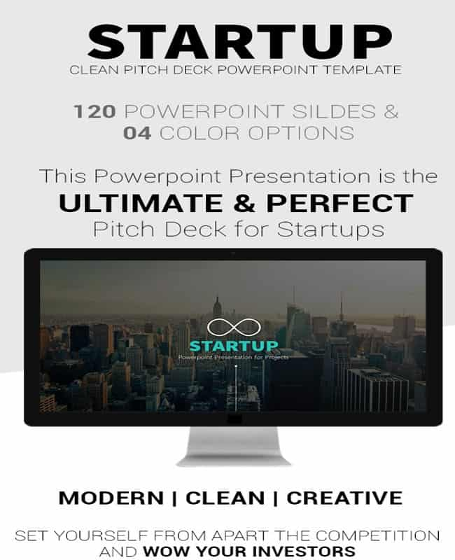 Startup - Clean and Modern Pitch Deck Powerpoint Template