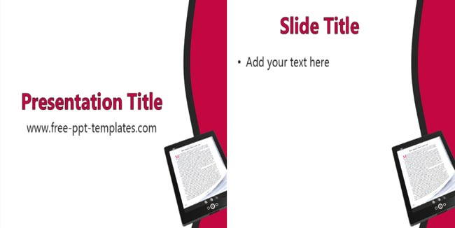 eBooks - Online Books Free Presentation Template