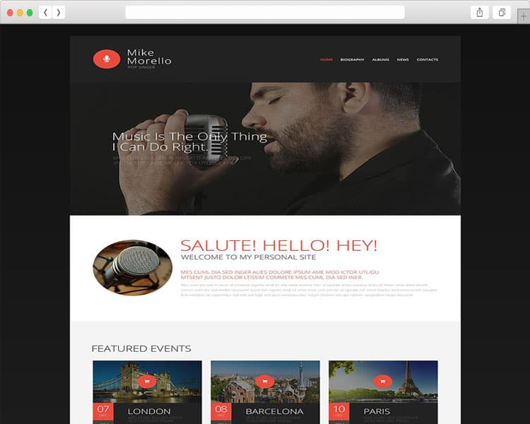 Mike Morello responsive web templates