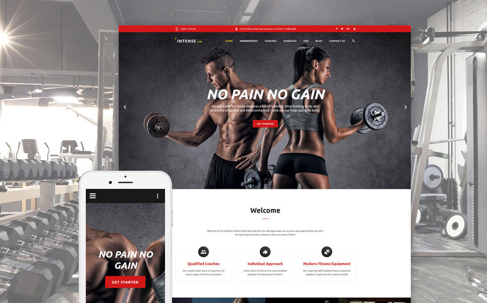 Gym and Fitness Website Template