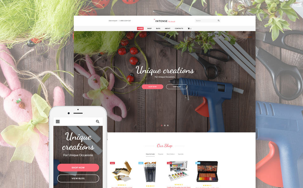 Hobbies and Crafts Website Template