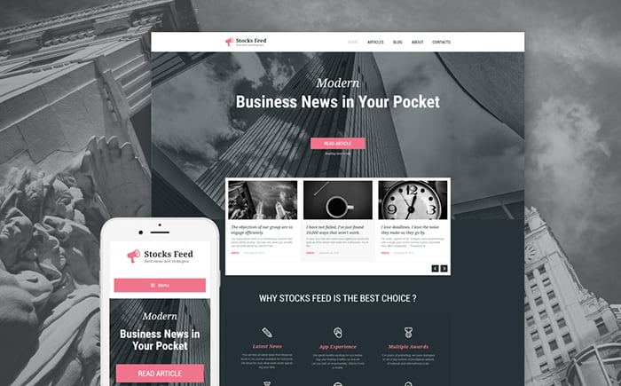 Stocks Feed Responsive WordPress Theme