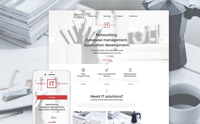 IT Solutions WordPress Template