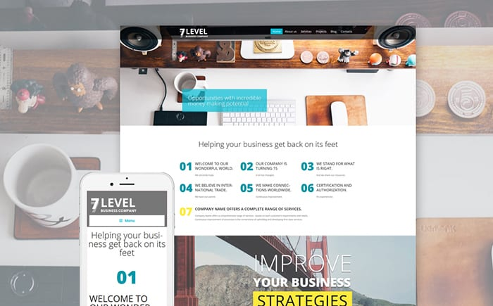 Business Agency WordPress Template