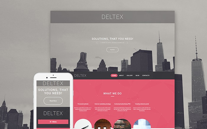 Deltex Business Solutions WordPress Theme