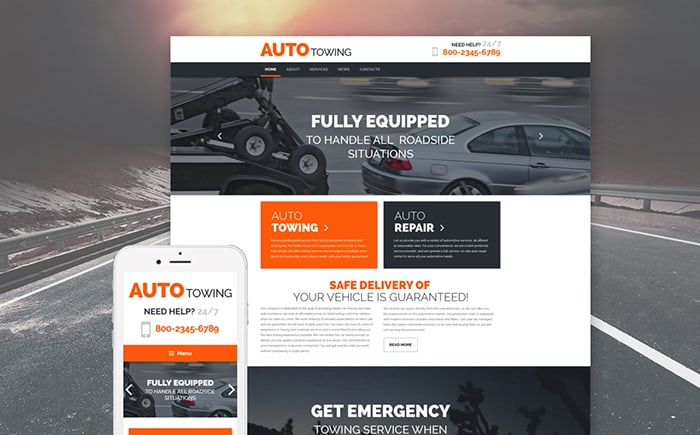 Auto Towing Service WordPress Theme