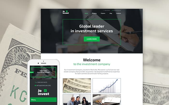 Investment Manager WordPress Template