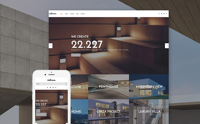 Exterior and Interior Design WordPress Theme