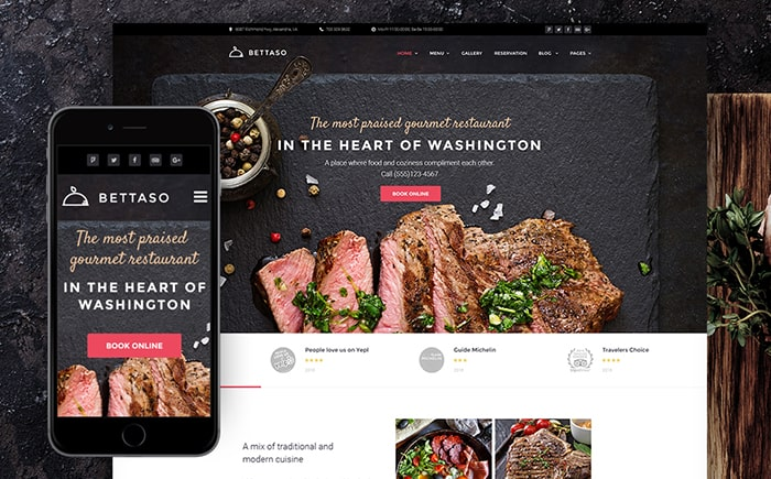 Bettaso Restaurant WordPress Theme