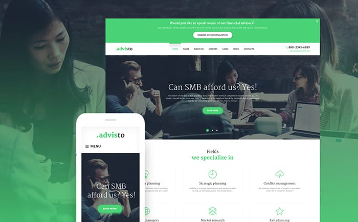 Financial Agency WordPress Theme