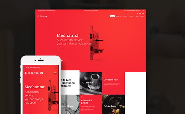 Mechanna - Lockmasters WordPress Theme